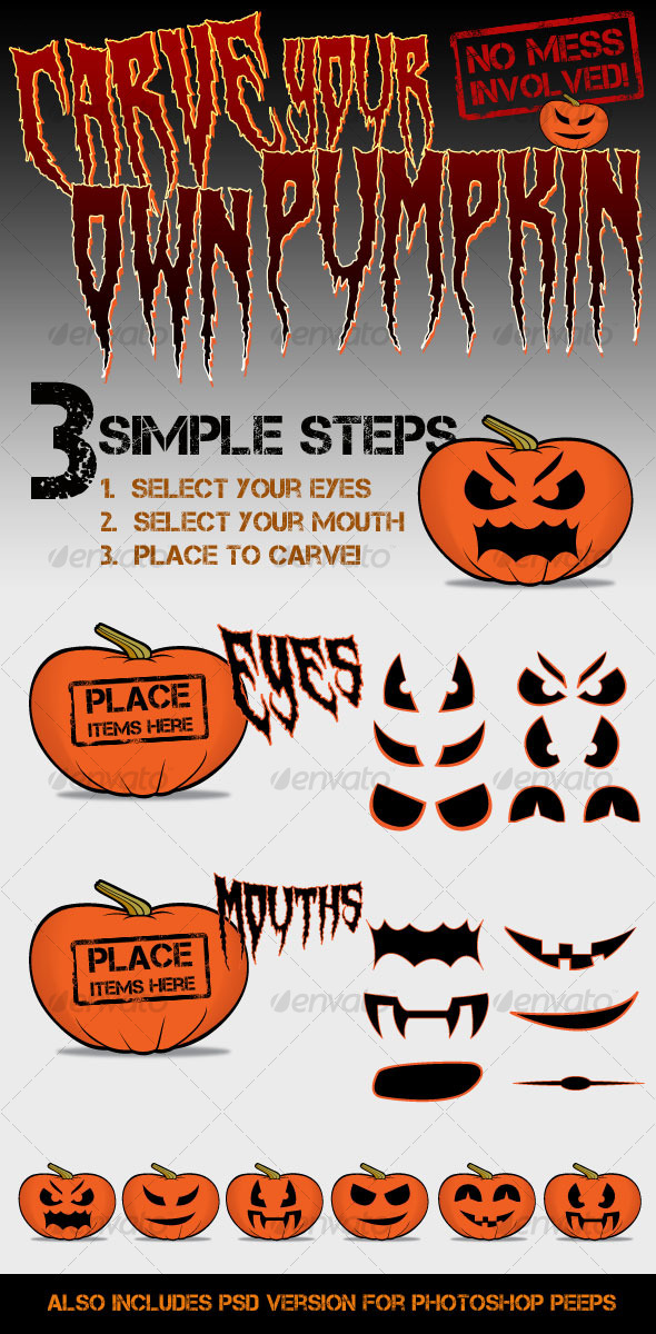 Carve your own Pumpkin/Jack-o&#x27;-Lantern - Miscellaneous Characters