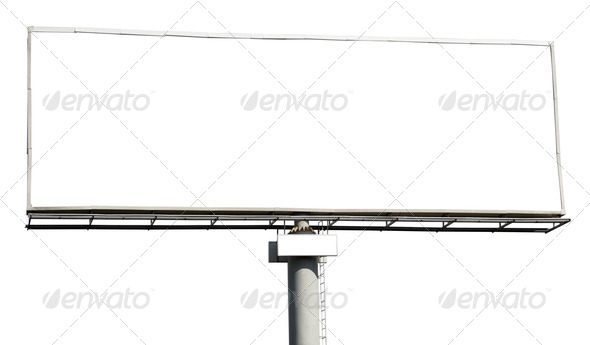 Blank billboard isolated - Stock Photo - Images