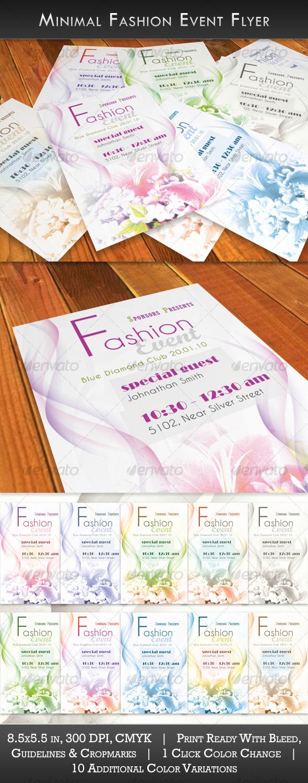 GraphicRiver Minimal Fashion Event Flyer 128292