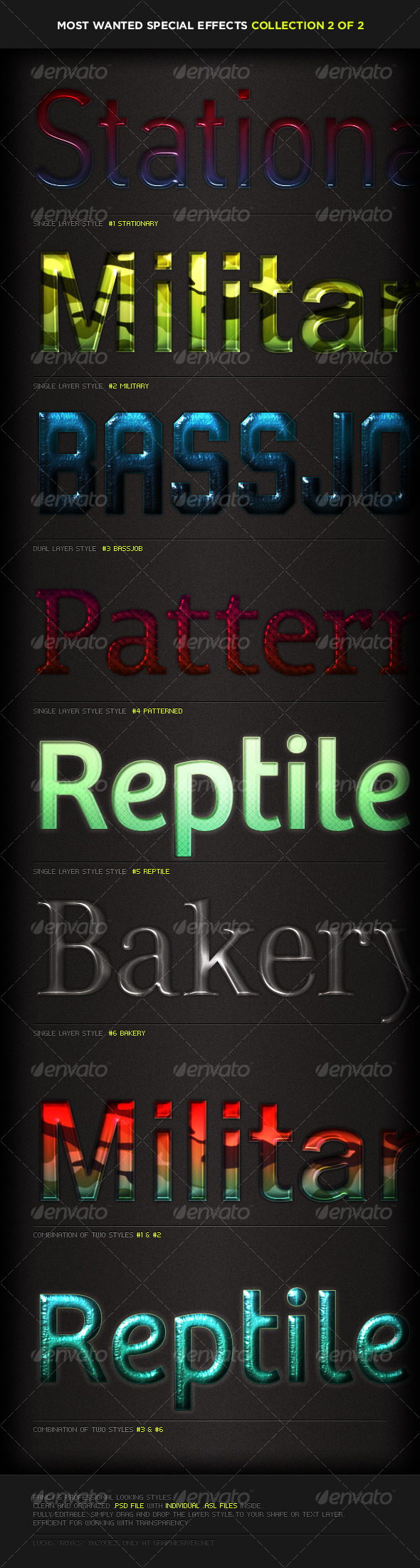 Most-Wanted Styles Pack 2 - Text Effects Styles
