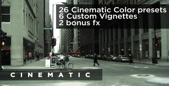 VideoHive Easy Cinematic Color & FX Preset Pack 128378