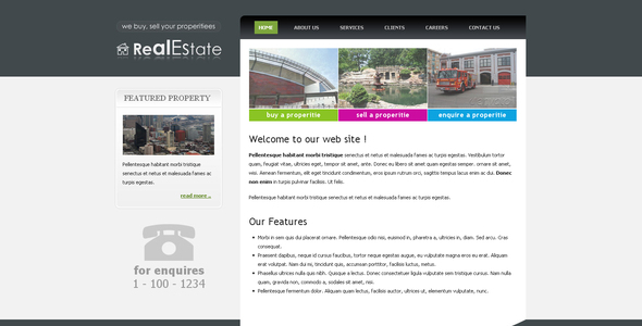 ThemeForest Real Estate Clean Elegant Template 42482