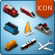 Isometric Map Icons - Train-Graphicriver中文最全的素材分享平台