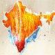 Abstract illustration of the continent India - GraphicRiver Item for Sale