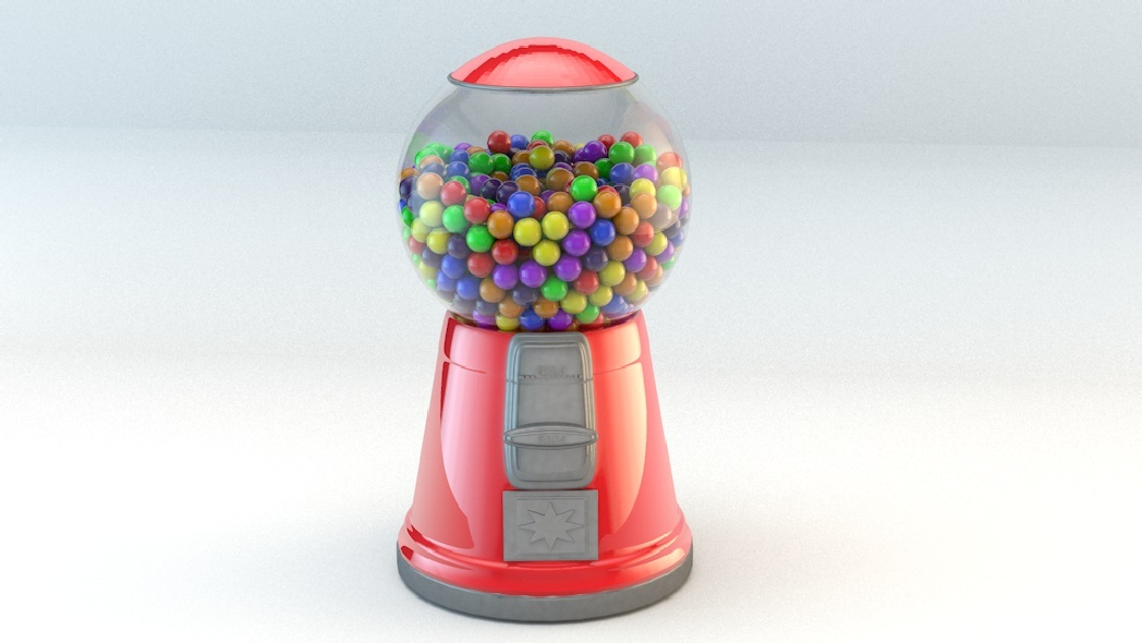 Basic gumball machine - 3DOcean Item for Sale