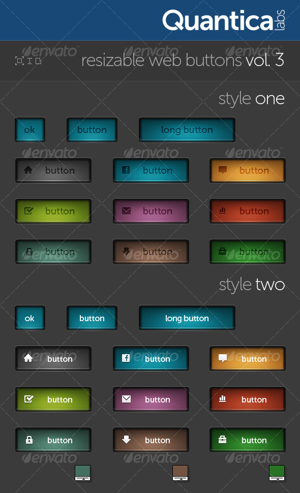 Resizable Web Buttons #3 - Buttons Web Elements