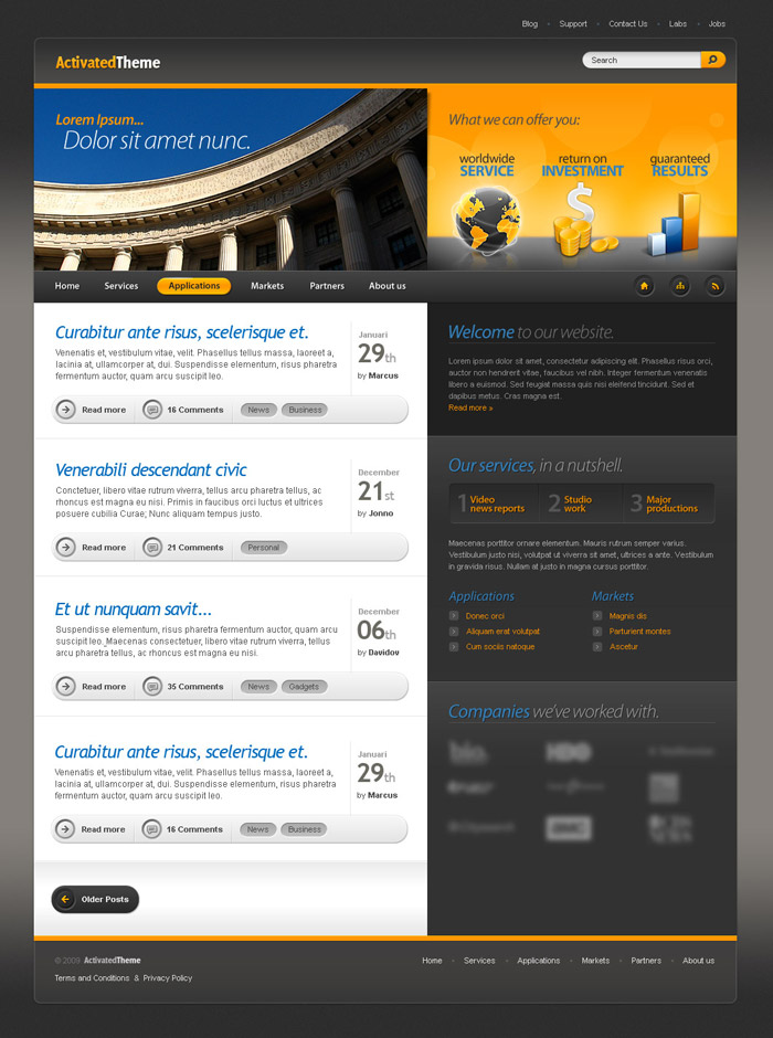 ActivatedTheme - ThemeForest Item for Sale
