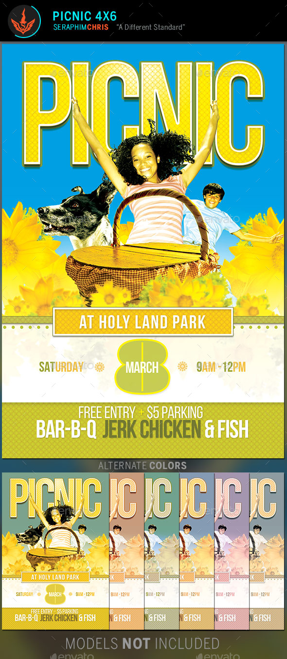 Graphicriver Picnic Flyer Template 10168170 Print Template Flyers U2026