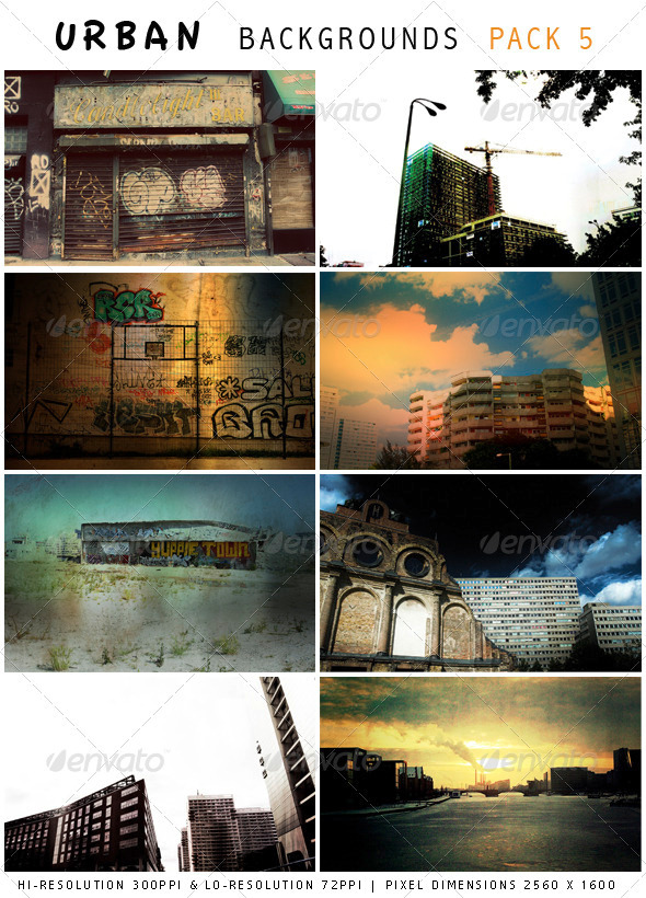 GraphicRiver Urban Backgrounds Pack 5 1021516