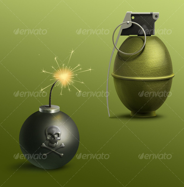 GraphicRiver Bomb and Grenade 129382