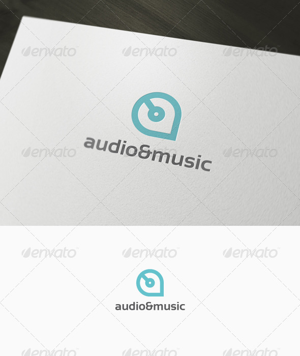 Audio & Music Logo GraphicRiver - Logo Templates -  Letters 1034011