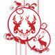Christmas Balls With Deer - GraphicRiver Item for Sale