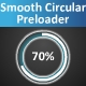 Easing Circle Percentage Preloader - ActiveDen Item for Sale