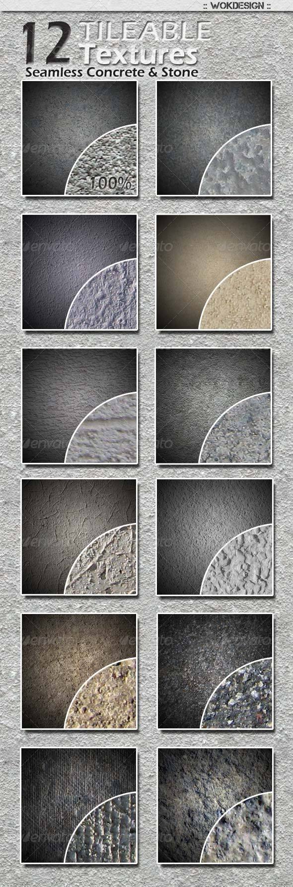 12 Seamless Tileable Concrete and Stone Textures - Stone Textures
