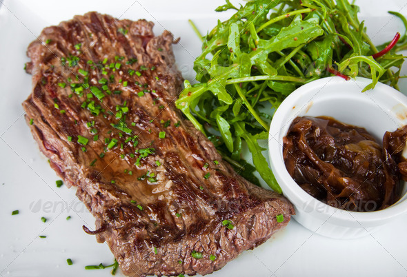 juicy steak - Stock Photo - Images