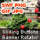 Sliding Buttons Banner Rotator - ActiveDen Item for Sale