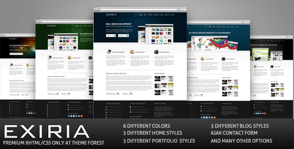 Exiria xHTML/CSS Portfolio and Business Theme