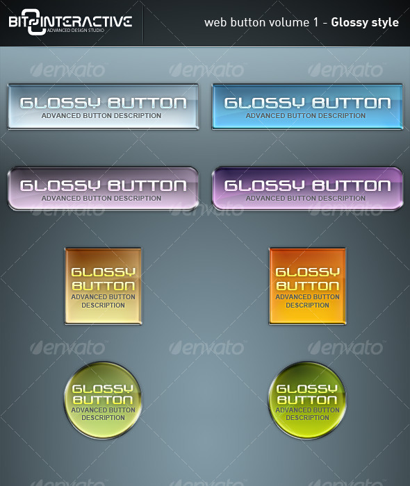 GraphicRiver Web Button Volume 1 Glossy Style 130093