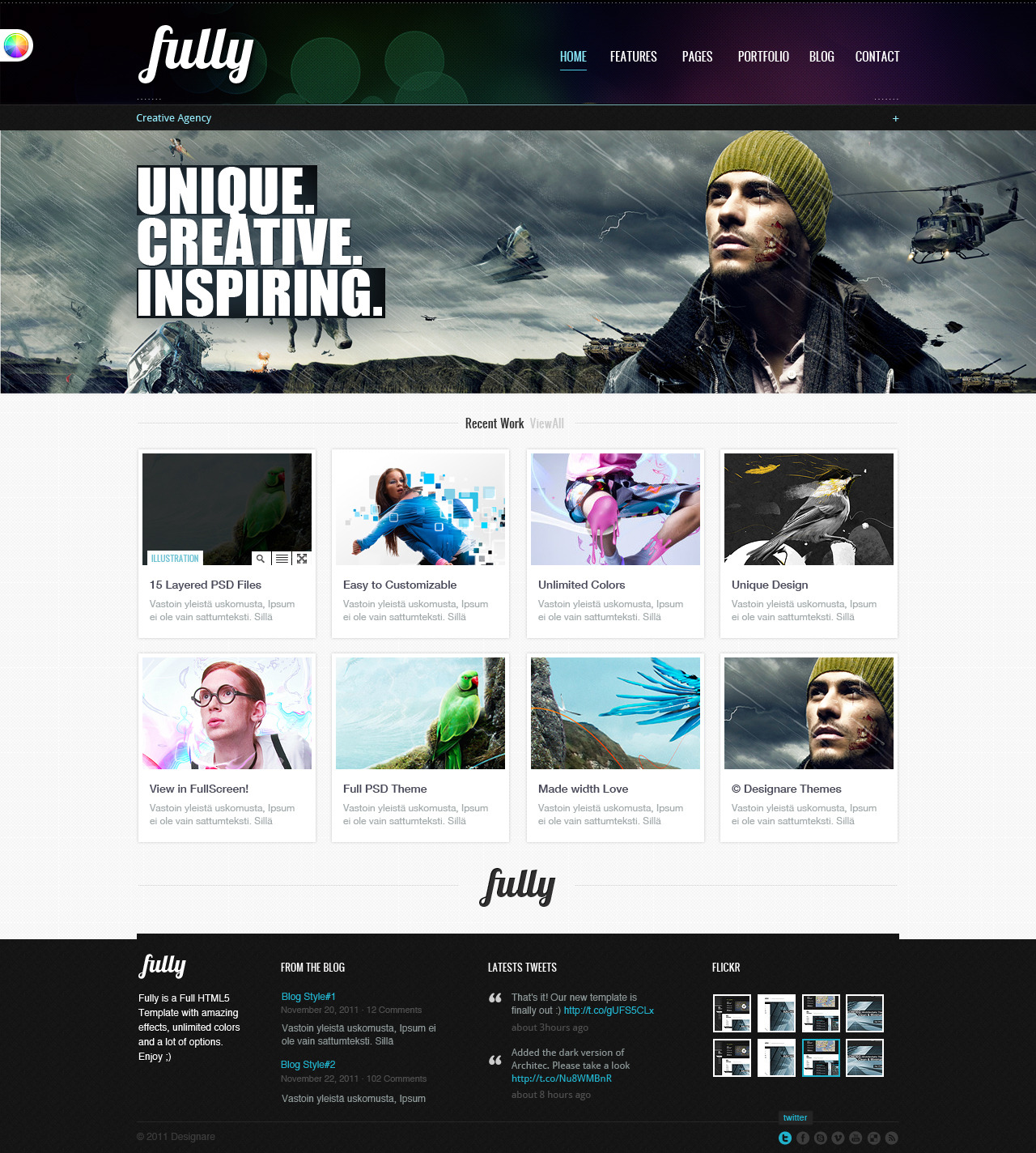 Fully - Portfolio&amp;Business HTML Theme