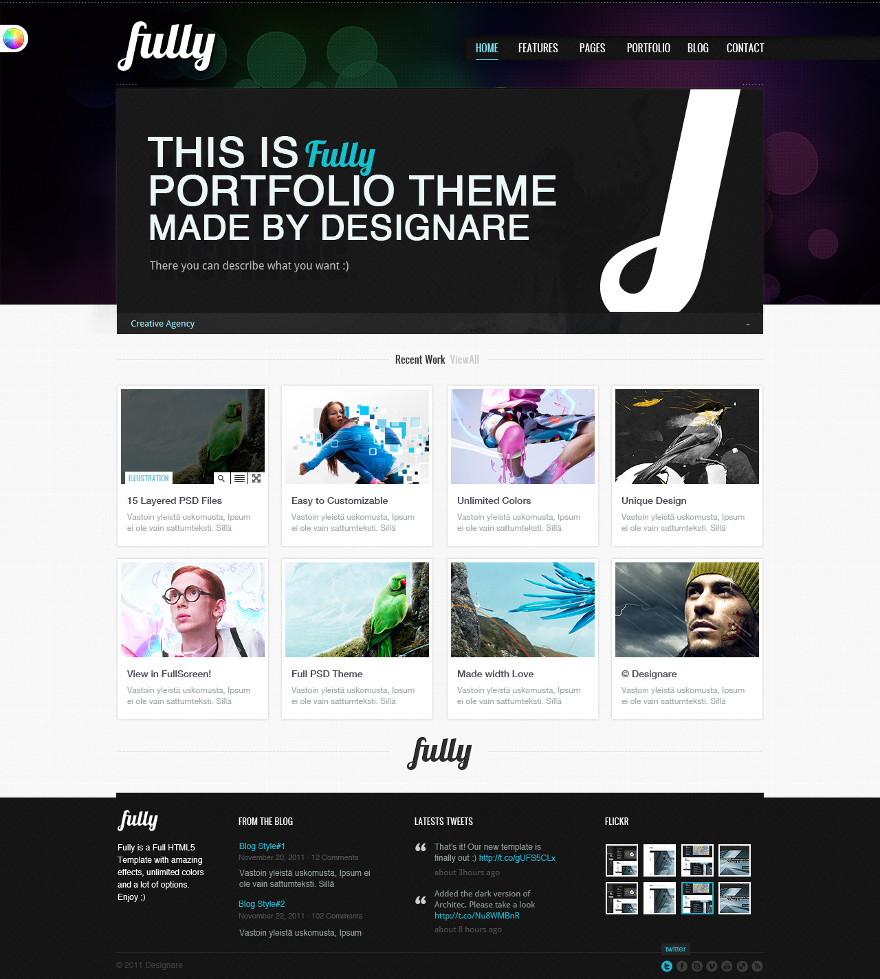 Fully - Portfolio&Business HTML Theme