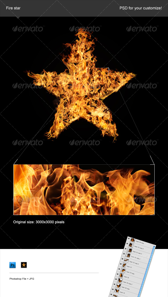 Fire Star - Decorative Symbols Decorative
