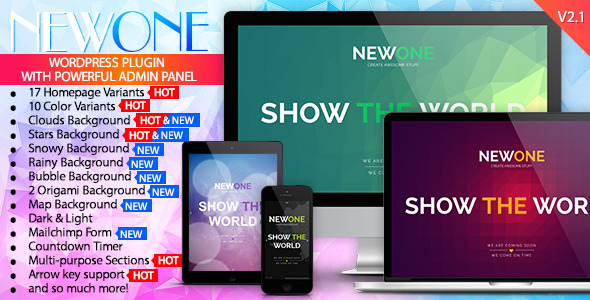 Newone - Responsive Coming Soon WP Plugin