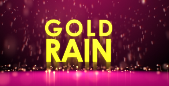 After Effects Project - VideoHive Gold rain 105428