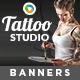 Tatto Studio Banners-Graphicriver中文最全的素材分享平台