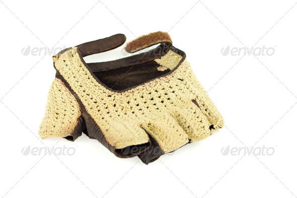 Vintage fingerless glove - Stock Photo - Images