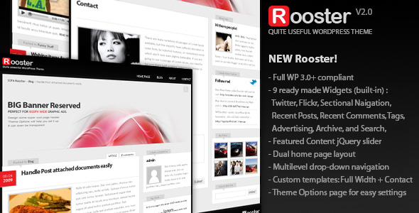 Sofa Rooster, WordPress theme - Large Preview, themeforest.net