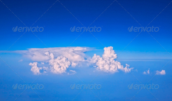 White cloud in blue sky - Stock Photo - Images