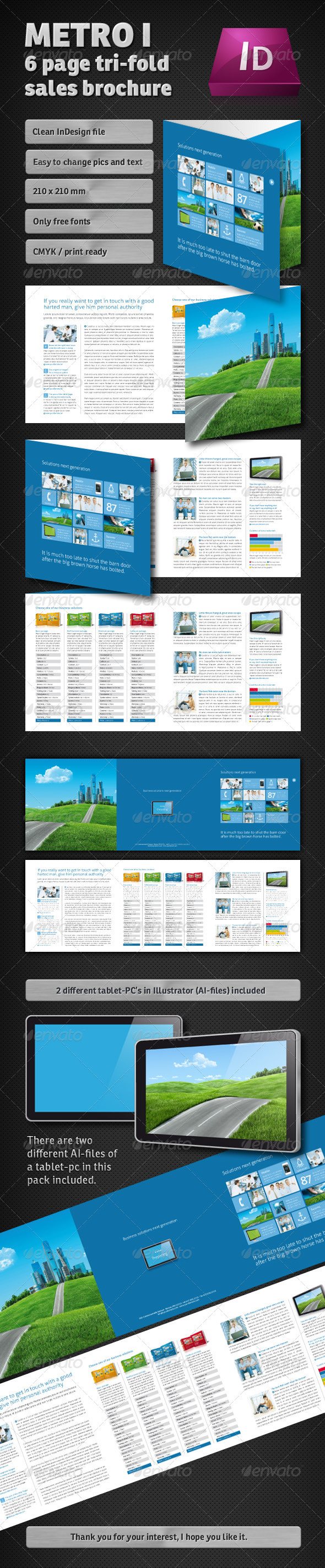 Metro I – 3 Page Tri-fold Sales Brochure - Corporate Brochures