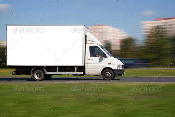 Space for advertisement on truck - Stock Photo - Images
