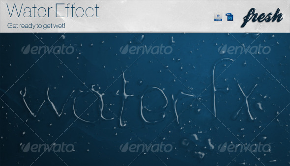 Realistic Water Fx Styles GraphicRiver - Add-ons -  Photoshop  Styles  Text Effects 131038