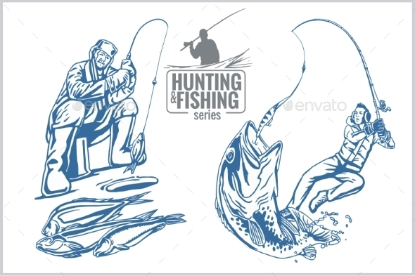 Hunting and fishing tattoos