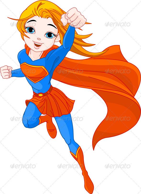 Fly Girl Superhero of Super Hero Girl in Fly