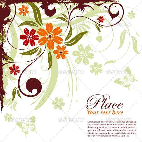 Graphic River Floral frame Vectors -  Decorative  Borders 1049909