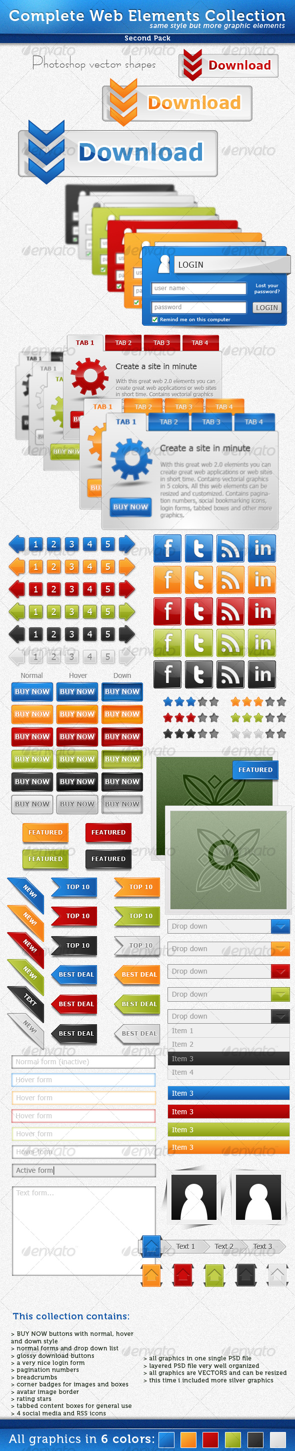 Complete Web Elements Collection - Pack2 - Miscellaneous Web Elements