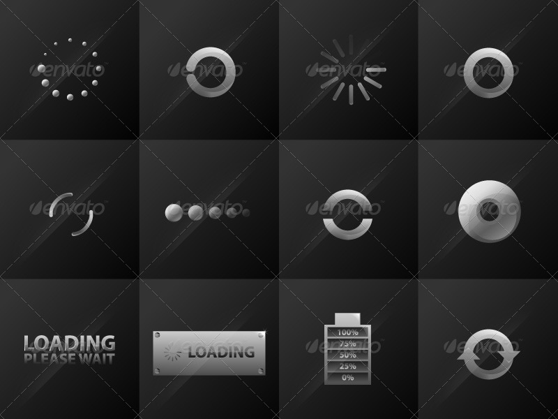 Preloaders Vector Set