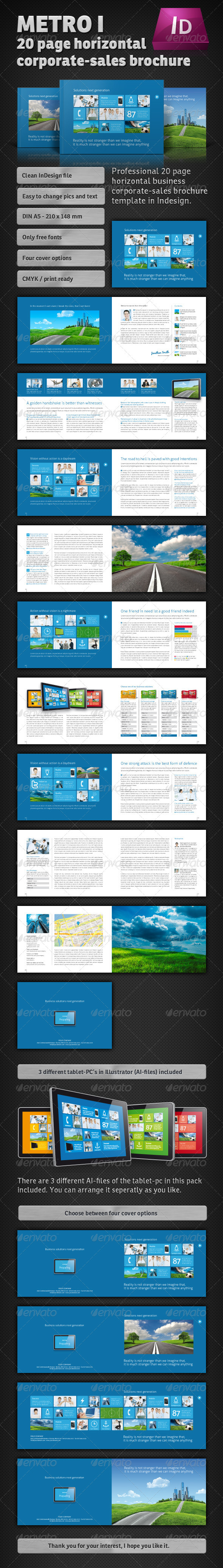 Metro I – 20 Page horizontal Sales Brochure - Corporate Brochures