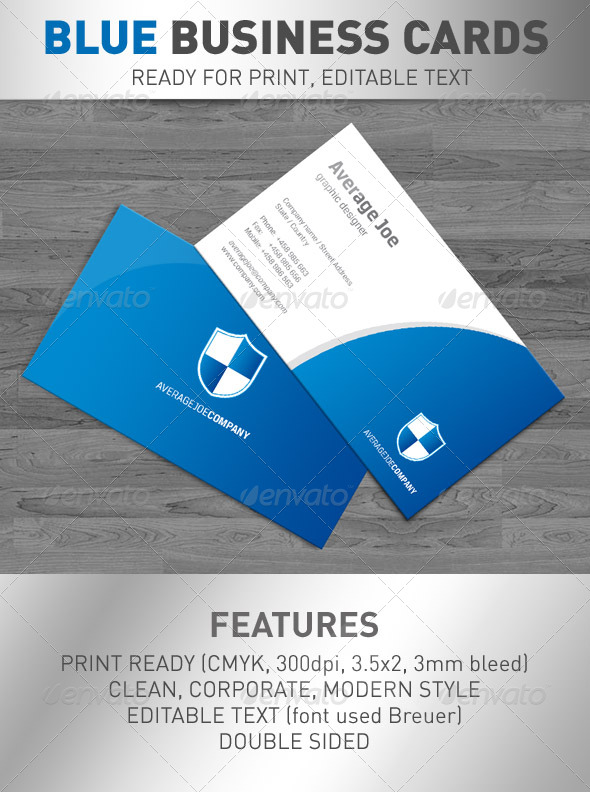 """Shield"" Business Cards - Corporate Business Cards"