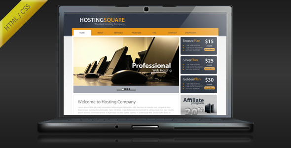 HostingSquare - Web Hosting HTML Template