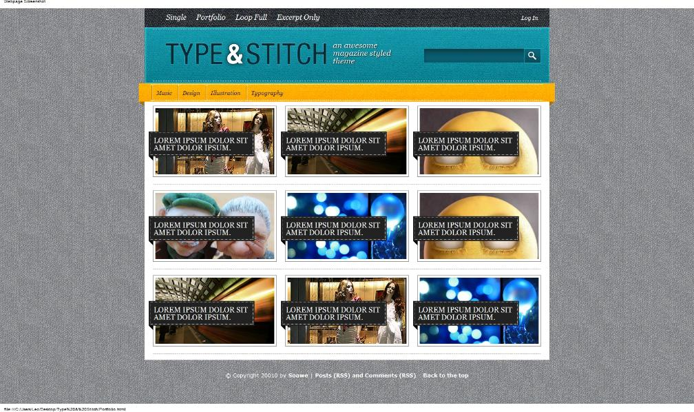 Type & Stitch 2-in-1 Wordpress Theme
