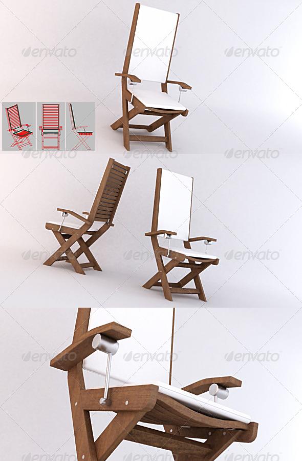 3DOcean Garden 01 Chair 131581
