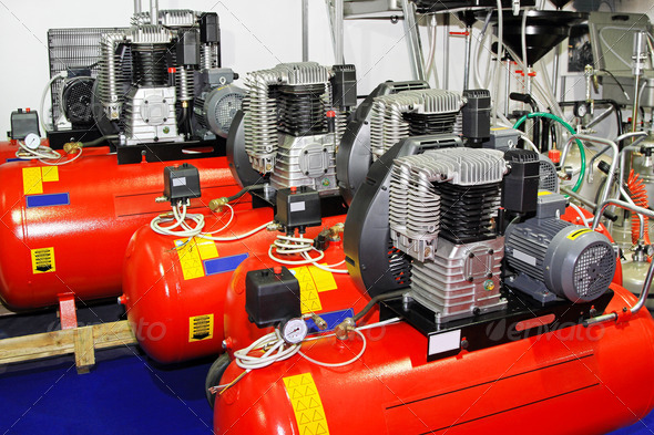 Air compressors - Stock Photo - Images