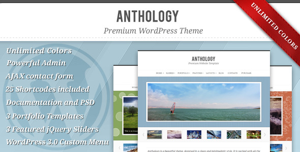 Anthology - Premium Elegant WordPress Theme - Portfolio Creative