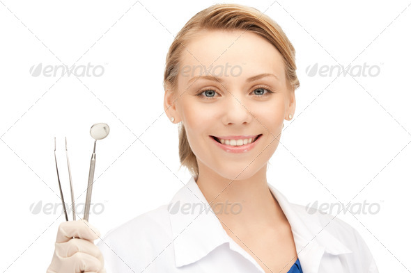 dentist with tools - Stock Photo - Images
