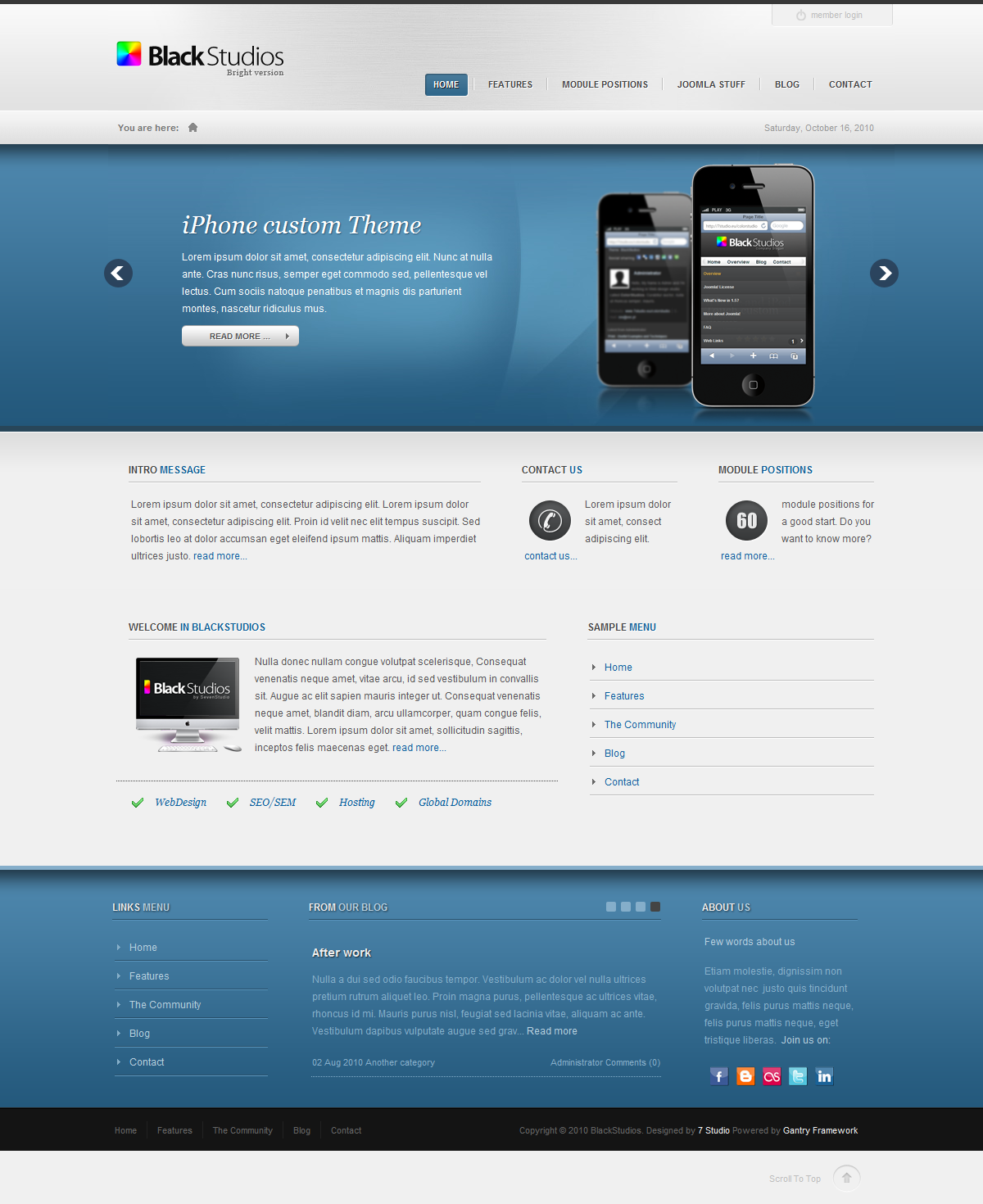 BlackStudios Creative Joomla! Template