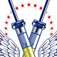 Syringe Heart Wing Emblem With Ribbon - GraphicRiver Item for Sale