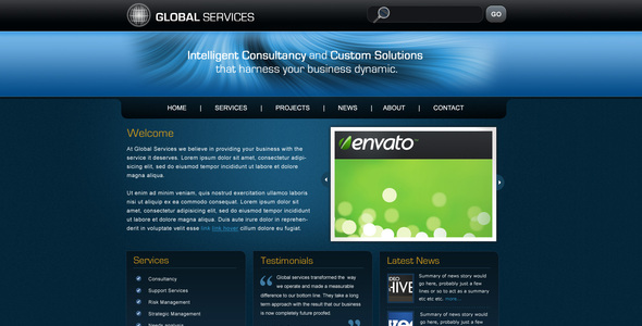 Global Services - Corporate PSD Templates